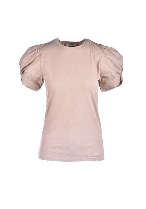 Beige t-shirt with puff sleeves SEMICOUTURE |  | Y1SK10V62
