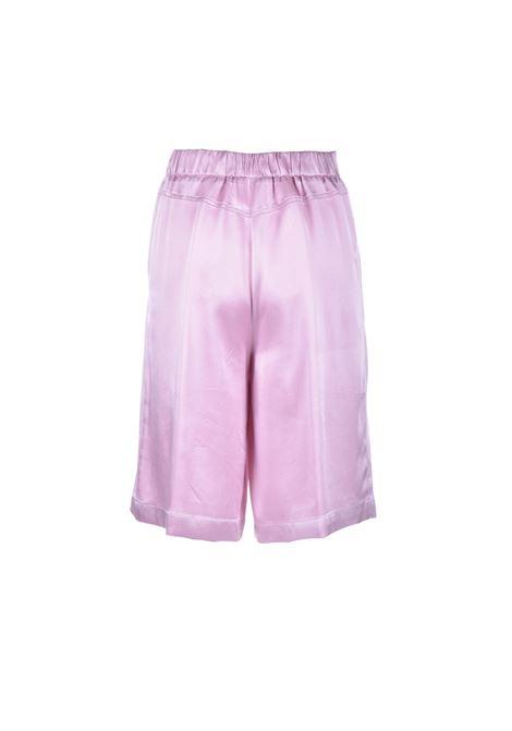 Bermuda classico ad altezza ginocchio in raso rosa SEMICOUTURE | Bermuda | Y1SM03H04