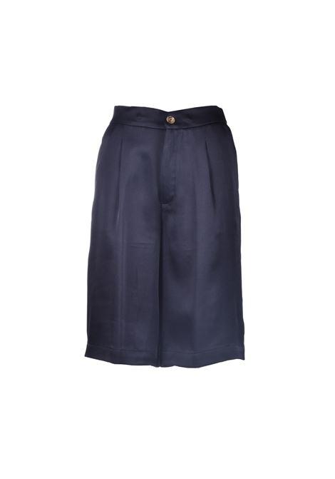 Classic knee-high bermuda shorts in black satin SEMICOUTURE | Bermuda | Y1SM03Y69