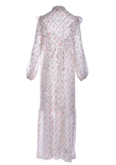 Long voile dress with floral patterned rouches SEMICOUTURE |  | Y1ST0525VAR