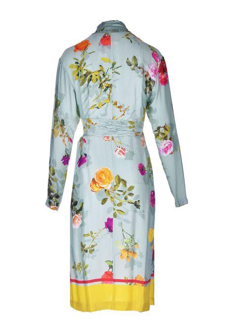Abito kimono midi in raso con stampa floreale SEMICOUTURE | Vestiti | Y1ST3321VAR