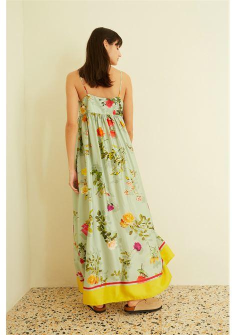 Abito lungo in raso con stampa floreale SEMICOUTURE | Vestiti | Y1ST3421VAR