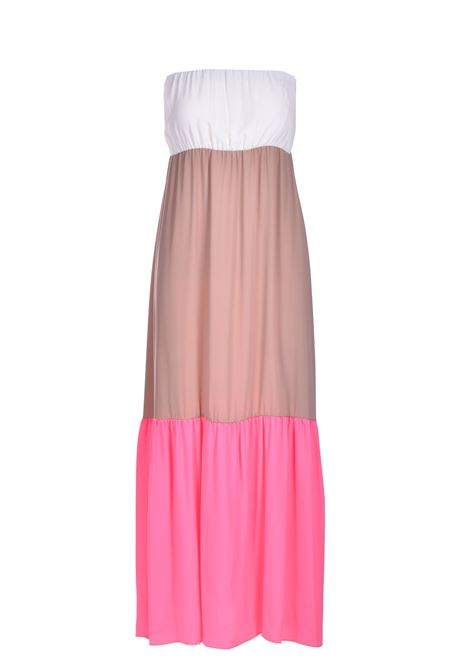 Long bandeau dress in three-color crepe SEMICOUTURE |  | Y1SU1123VAR