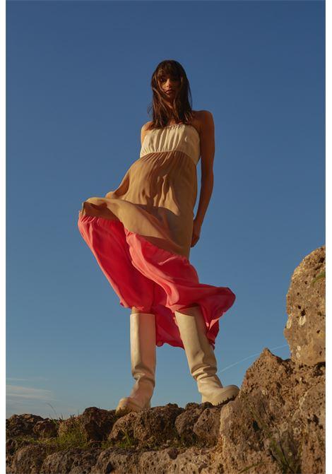 Abito lungo a fascia in crepe a tre colori SEMICOUTURE | Vestiti | Y1SU1123VAR
