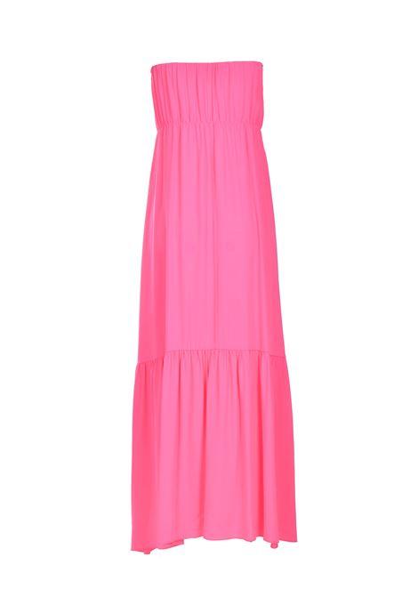 Abito lungo a fascia in crepe in rosa candy SEMICOUTURE | Vestiti | Y1SU11G21
