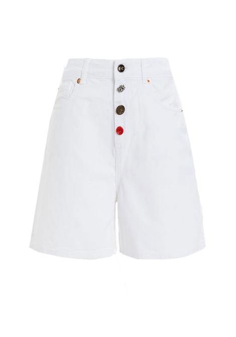 Shorts in denim bianco con bottoni gioiello SEMICOUTURE | Shorts | Y1SY03A01