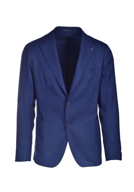 Two-button jacket in fresh blue virgin wool TAGLIATORE | Blazers | 1SMC22K 18UEG072I3083
