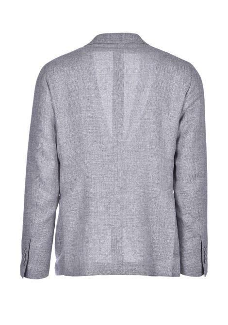 Two-button blazer in light gray hopsack fabric TAGLIATORE | Blazers | 1SMC22K 47UEG083P3232
