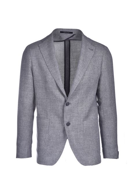 Two-button blazer in light gray hopsack fabric TAGLIATORE | Blazers | 1SMC22K 47UEG083P3232