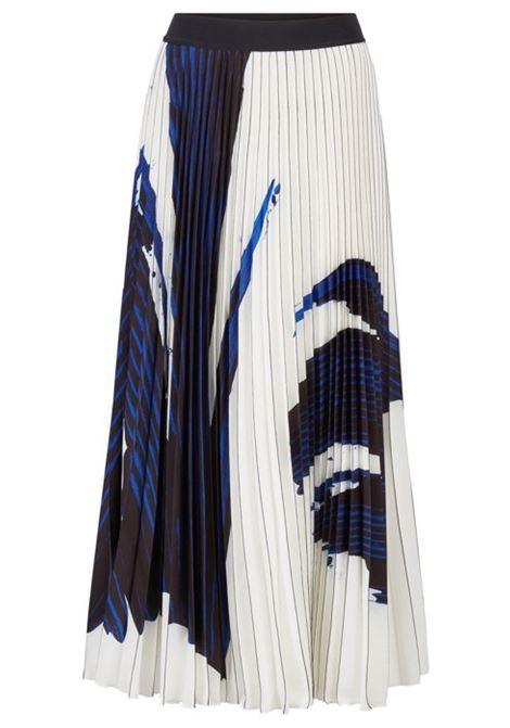 Gonna a trapezio in tessuto plissé portoghese con motivo sovrastampato BOSS | Gonne | 50411310965