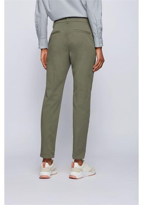 Regular fit chino in organic stretch cotton BOSS | Pants | 50446976304