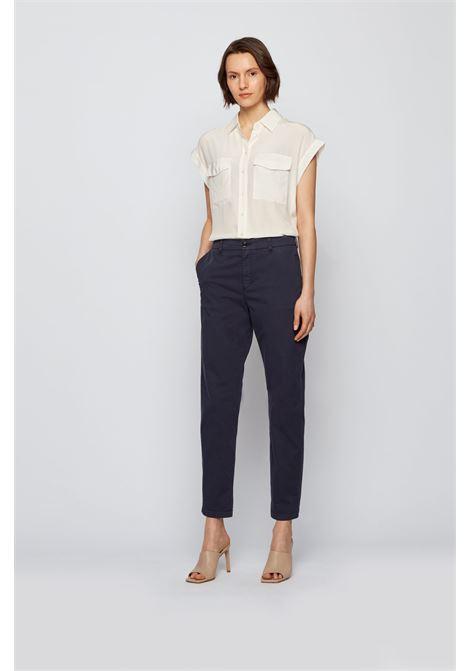 Regular fit chino in organic stretch cotton BOSS | Pants | 50446976466