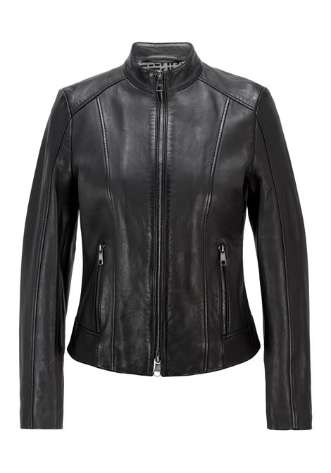 Leather jacket with worked panels BOSS | Jackets | 50453173001