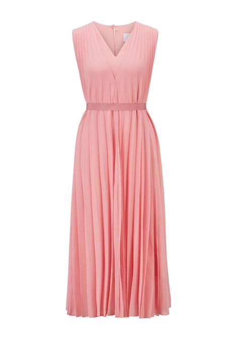 V-neck midi dress in recycled pleated chiffon BOSS |  | 50453440675