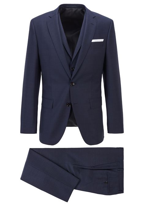 Slim fit three-piece suit in virgin wool serge BOSS | men | 50453627402