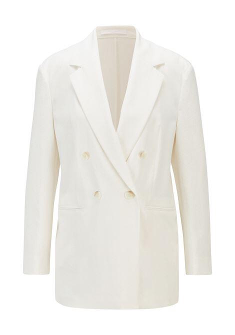 Regular fit double-breasted jacket in wrinkled crêpe BOSS | Blazers | 50453632118
