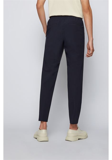 Slim fit trousers in technical fabric with elasticated waist BOSS | Pants | 50453780402