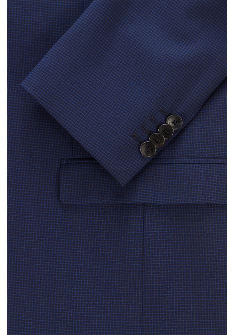 Slim fit suit in micro patterned virgin wool BOSS | men | 50453797428
