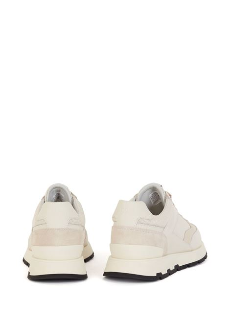 Runner-style sneakers in mixed materials with exclusive logo BOSS | Sneakers | 50453915118