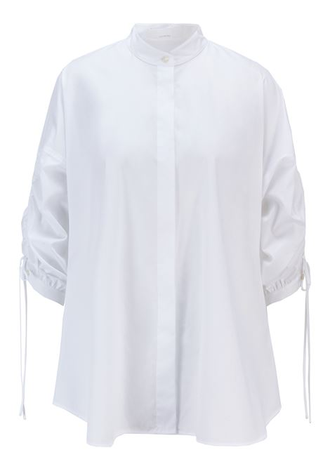 Relaxed fit blouse in organic cotton with adjustable sleeves BOSS | Blouses | 50454037100