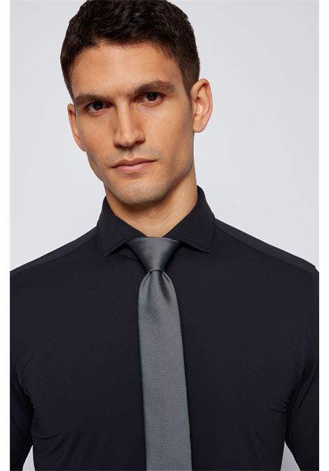 Silk tie with micro jacquard motif BOSS | Ties | 50455247001
