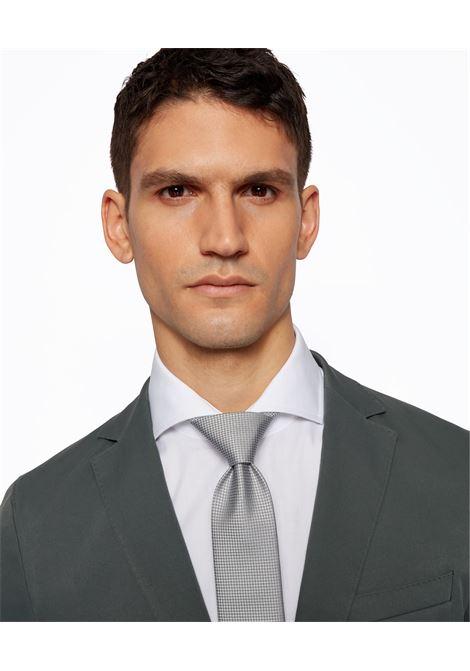 Silk tie with micro jacquard motif BOSS | Ties | 50455247072