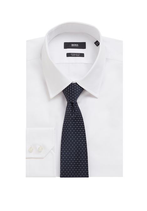 Cravatta in seta jacquard idrorepellente con micromotivo BOSS | Cravatte | 50455254402