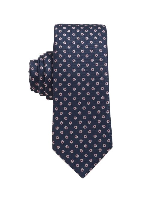 Water repellent jacquard silk tie with micro pattern BOSS | Ties | 50455254403