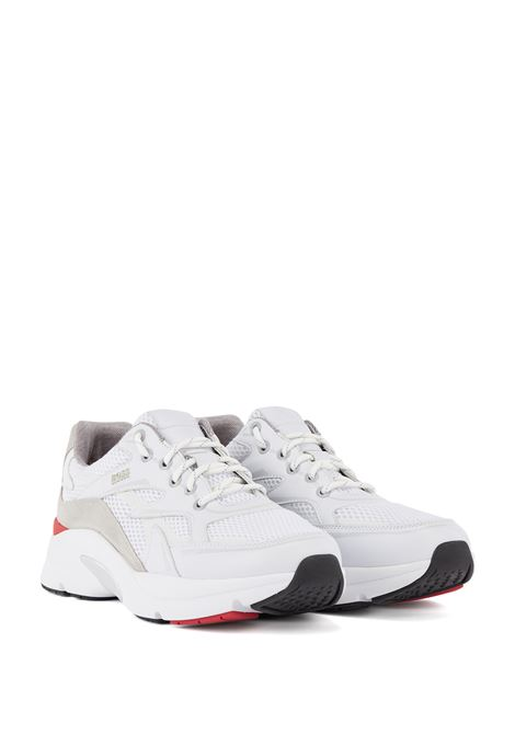 Runner-style sneakers in leather, suede and open mesh BOSS | Sneakers | 50455322100