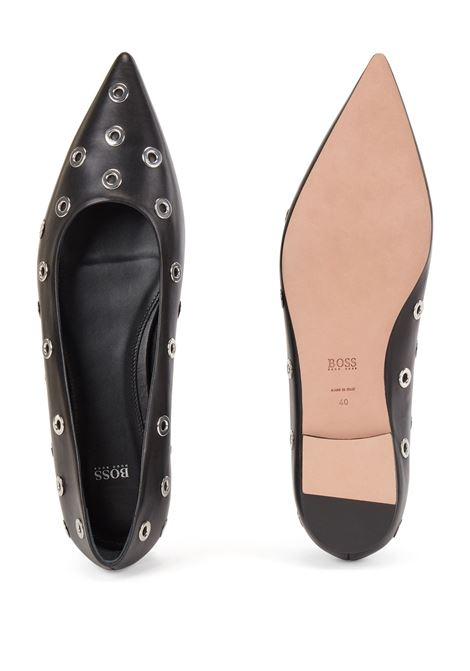 Italian leather ballet flats with metal eyelets BOSS |  | 50456206001