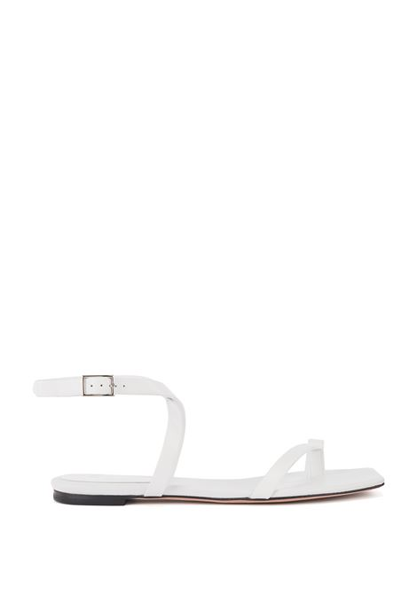 Flat sandals in Italian leather with straps and square toe BOSS | Sandals | 50456239114