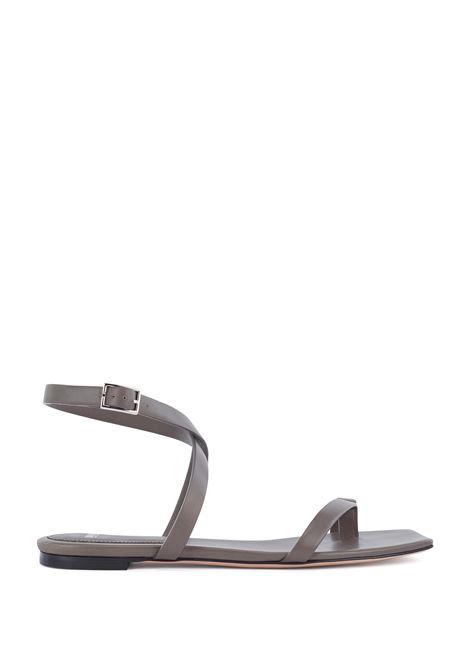 Sandali bassi in pelle italiana con cinturini e punta quadrata BOSS | Sandali | 50456239304