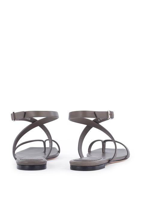 Flat sandals in Italian leather with straps and square toe BOSS | Sandals | 50456239304