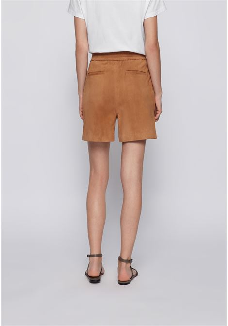 Suede shorts with partially elastic waist BOSS | Shorts | 50456339262