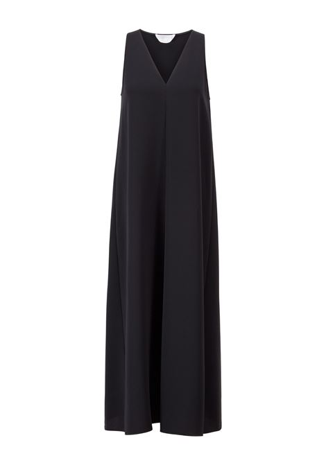 Flared maxi dress in crepe with deep V-neck BOSS |  | 50456643001