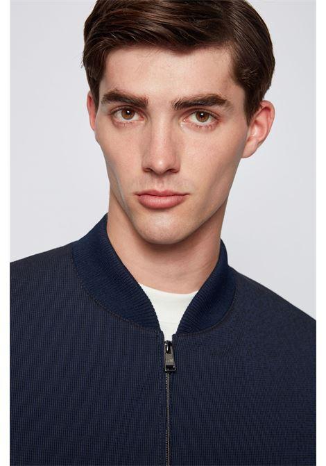 Slim fit jacket in seersucker cotton blend BOSS | Blazers | 50460451402