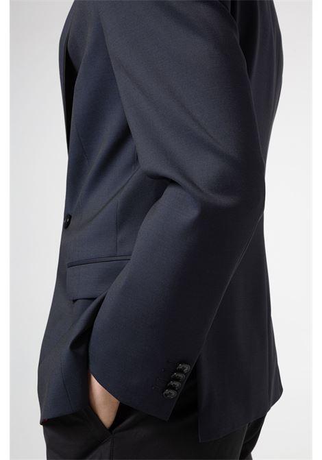 Giacca doppiopetto slim fit in twill di lana vergine HUGO | Giacche | 50454398401