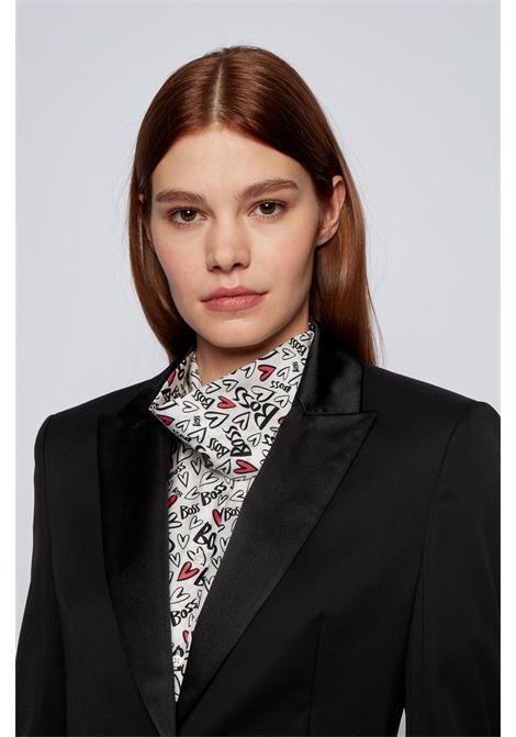 Regular fit tuxedo jacket with silk trim BOSS | Blazers | 50441975001