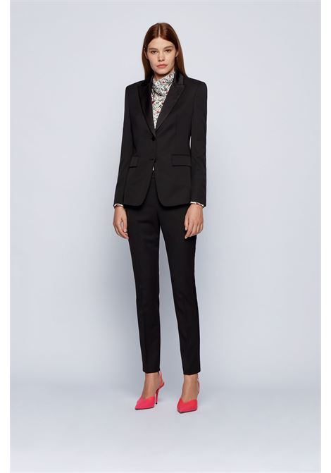 Regular fit tuxedo trousers with silk trims BOSS   Pants   50441976001
