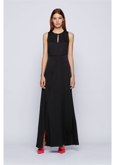 Long dress with slit in crêpe georgette BOSS |  | 50442859001