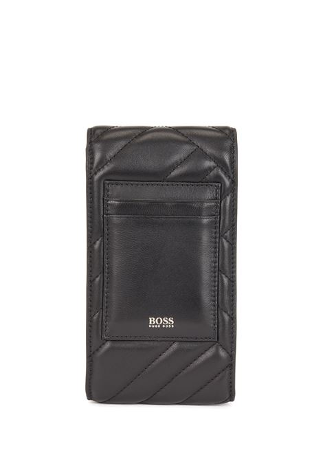 Mobile phone holder in quilted nappa with chain BOSS | Pochette | 50443026001