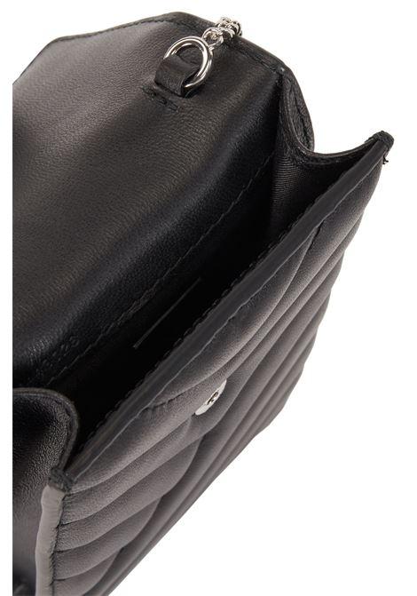 Portacellulare in nappa trapuntata con catenella BOSS | Pochette | 50443026001