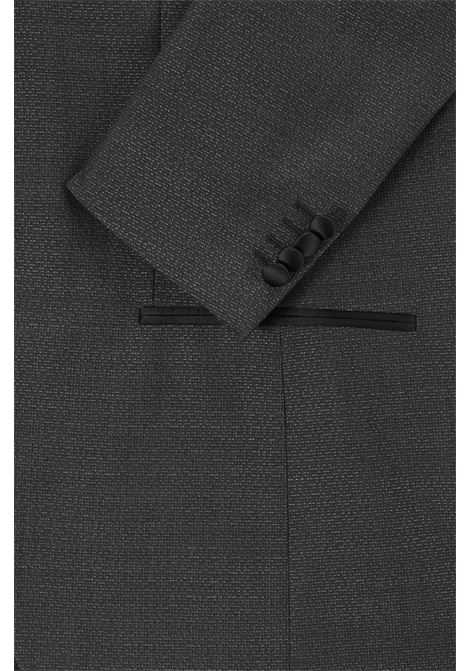 Abito smoking in lana vergine extra slim fit grigio scuro BOSS | Abiti | 50444229061