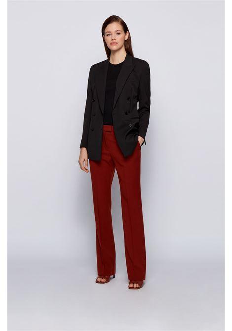 Regular fit double-breasted jacket in stretch Italian wool BOSS | Blazers | 50446463001