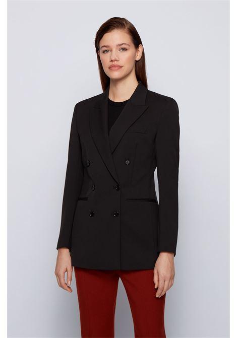 Giacca doppiopetto regular fit in lana italiana elasticizzata BOSS | Giacche | 50446463001