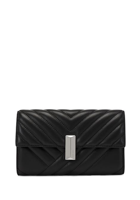 Nappa leather clutch with topstitching and removable wrist chain BOSS | Pochette | 50447709001