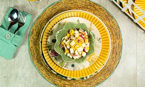 Ceviche de Coco e Chips de Ervas