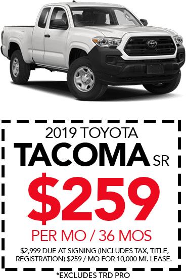 Shop New 2019 Toyota Tacoma SR