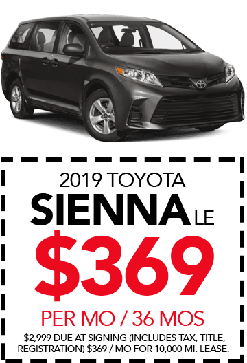 Shop New 2019 Toyota Sienna LE