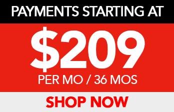 PAYMENTS STARTING AT $209 PER MO/36 MOS